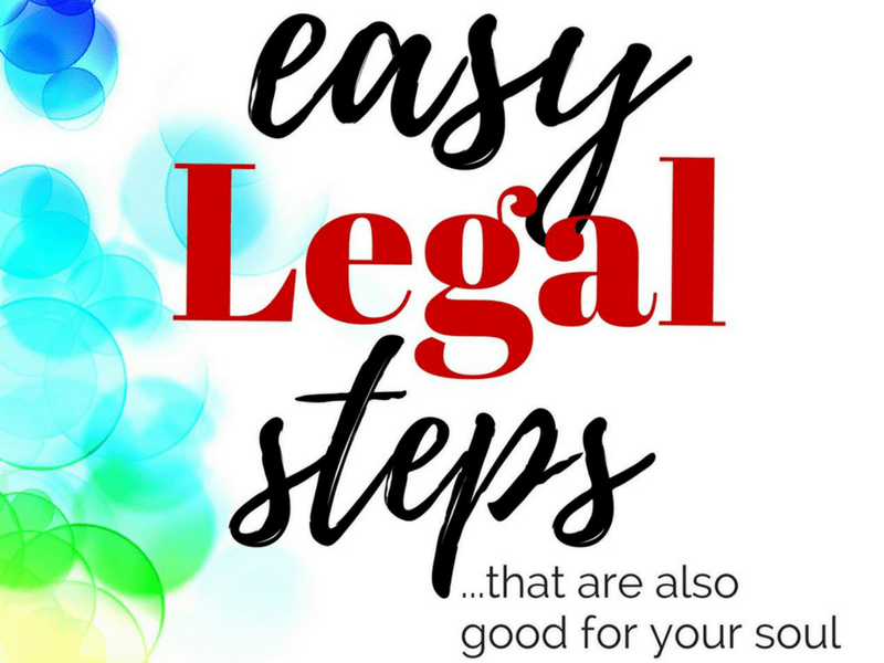 """My book is HERE! (Order """"Easy Legal Steps"""" today)"""