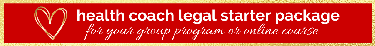 Legal documents diy legal templates for entrepreneurs sales terms and disclaimers for health coaches who offer group programs or online courses solutioingenieria Gallery