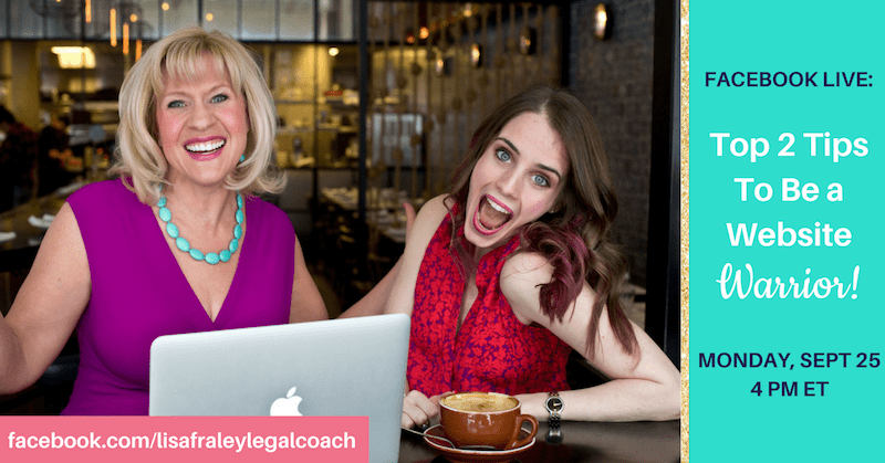 [Facebook Live TODAY] – Top 2 Tips to Be a Website Warrior