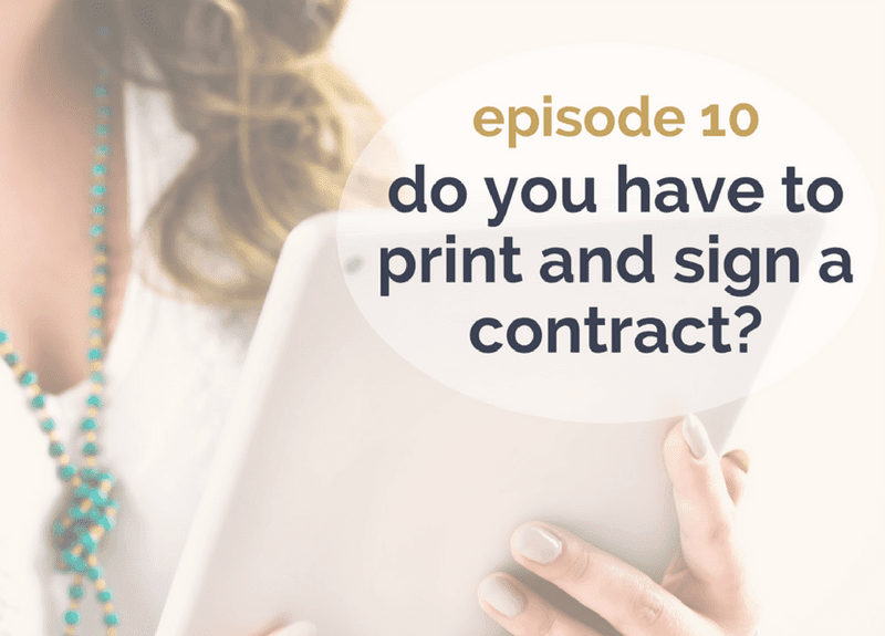 Can you sign a contract online?