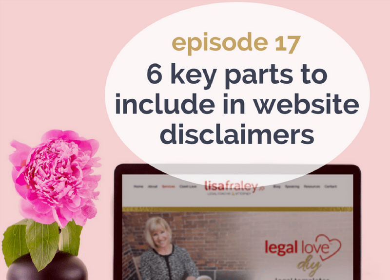 6 key parts to include in Website Disclaimers