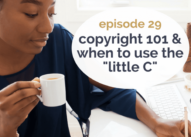 """Copyright 101 & when to use the """"little C"""""""