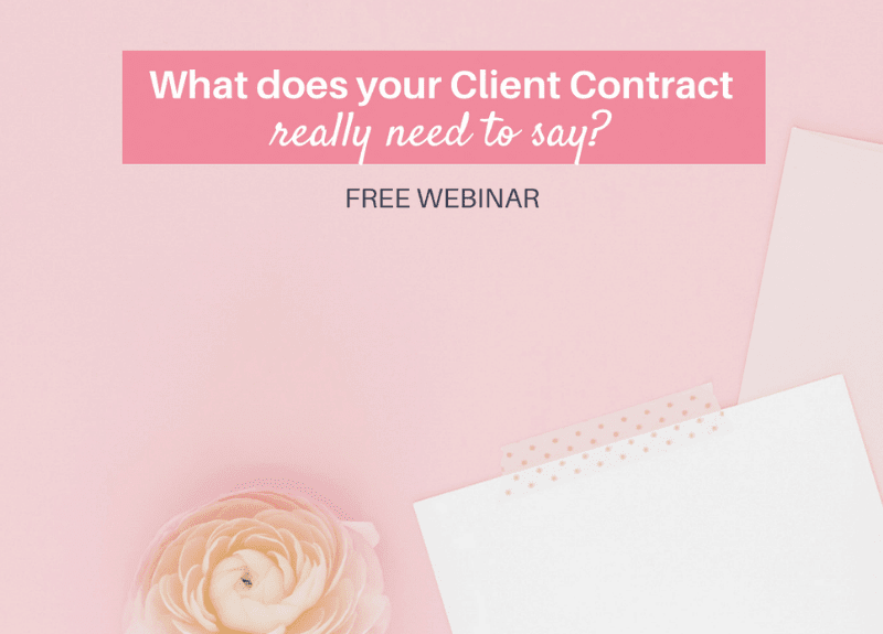 [FREE WEBINAR TOMORROW] Get clear on your Client Contract to avoid headaches with clients