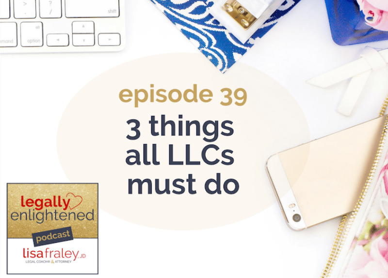 3 things all LLCs must do