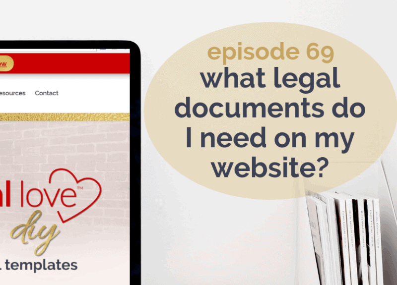 What legal documents do I need on my website?