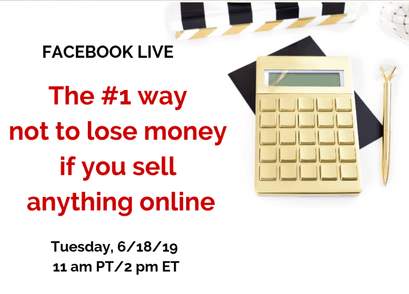 Join me for a Facebook Live today to learn how to stop losing money