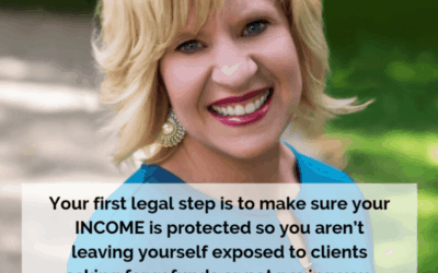 Your best legal step is to protect your income