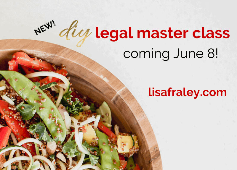 Learn your state nutrition laws in a DIY Legal Master Class next week (and save 50%)