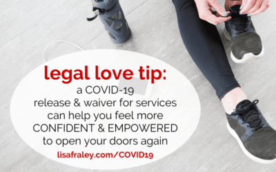 Seeing clients in person again? Use a COVID-19 Waiver & Release for Services