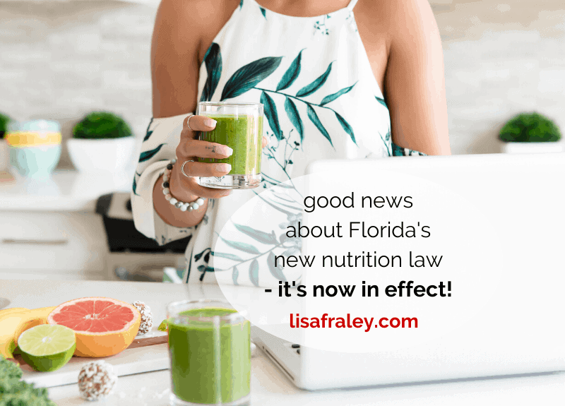 Good news about Florida's new nutrition law – it's now in effect!