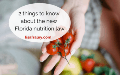2 things to know about Florida's new nutrition law