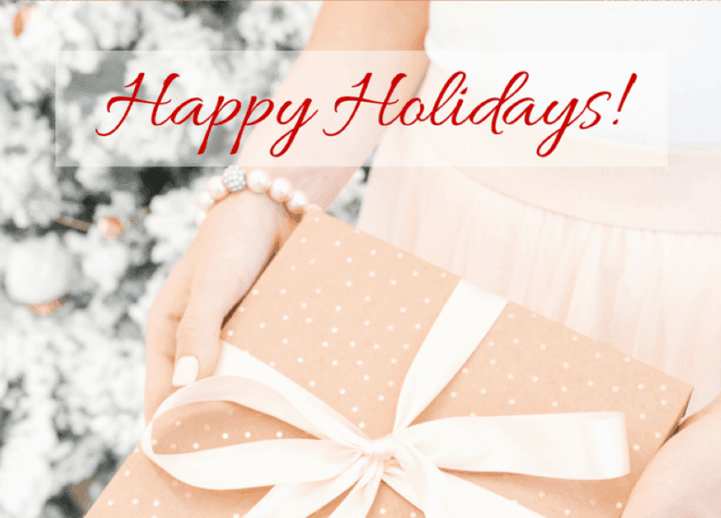 Happy Holidays (and I'm so proud of you!)