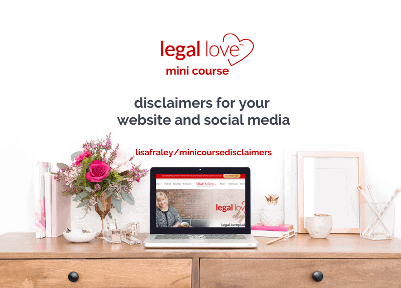 NEW Legal Love™ Mini Course for Social Media & Website Disclaimers